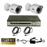 Комплект видеонаблюдения из 2-х камер и видеорегистратора Oltec AHD-DUO-FullHD