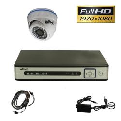 Комплект видеонаблюдения из 1-й камеры и видеорегистратора Oltec AHD-ONE-FullHD Dome