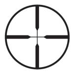 Прицел оптический Hakko LES 4X28 (Duplex)