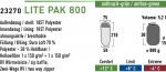Спальный мешок High Peak Lite Pak 800 / +8C (Left) Black/green
