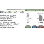 Спальный мешок High Peak Lite Pak 1200 / +5C (Right) Black/blue