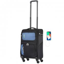 Чемодан TravelZ Tripple Pocket (S) Black
