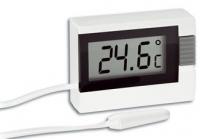 Термометр автомобильный цифровой TFA, белый, 39х52х15 мм30201802