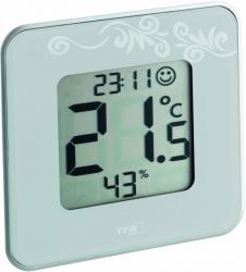 Термогигрометр цифровой TFA 30502102 Style белый
