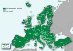 Топографическая карта Европы Garmin